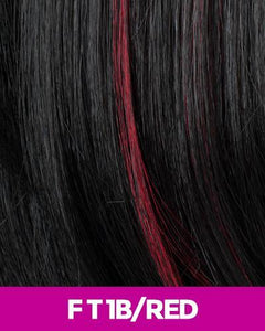 CUTIE COLLECTION MEDIUM LAYERED KK/TOYO SYNTHETIC HAIR WIG CT03 FT1B/RED Synthetic Hair Wigs