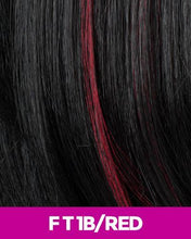 CUTIE COLLECTION MEDIUM LAYERED KK/TOYO SYNTHETIC HAIR WIG CT07 FT1B/RED Synthetic Hair Wigs