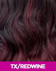 CUTIE COLLECTION SYNTHETIC HALF WIG CTF04 TX/RED_WINE Synthetic Hair Half Wigs