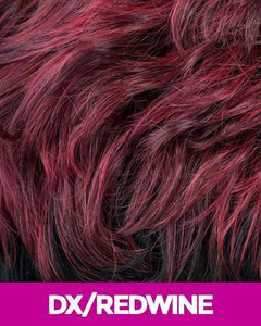 CUTIE COLLECTION UNBALANCED CURLY SHORT KK/TOYO SYNTHETIC HAIR WIG CT64 DX/REDWINE Synthetic Hair Wigs