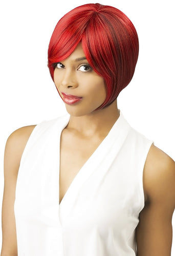 CUTIE COLLECTION UNBALANCED SHORT HIGH HEAT RESISTANT FIBER SYNTHETIC HAIR WIG CT62 Synthetic Hair Wigs