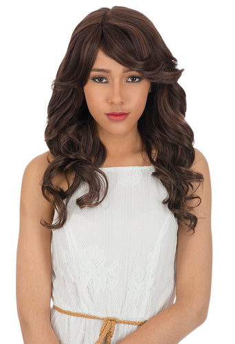 CUTIE COLLECTION WAVY LONG HIGH HEAT RESISTANT FIBER SYNTHETIC HAIR WIG CT136 Synthetic Hair Wigs