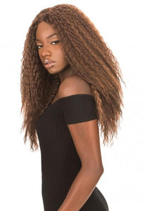 MAGIC LACE 360 FRONTAL WIG - Crimp Curl - ML360C Synthetic Hair Lace Front Wigs