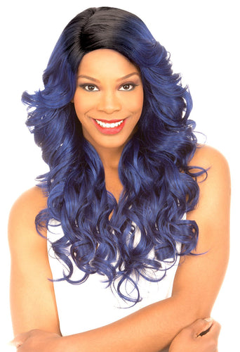 MAGIC LACE CURVED PART SYNTHETIC HAIR WIG MLC186 Synthetic Hair Lace Front Wigs