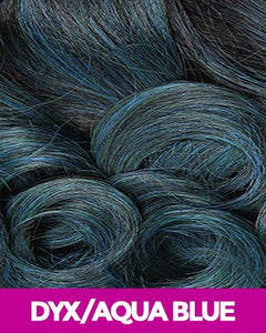 MAGIC LACE CURVED PART SYNTHETIC HAIR WIG MLC191 DYX/AQUABLUE Synthetic Hair Lace Front Wigs