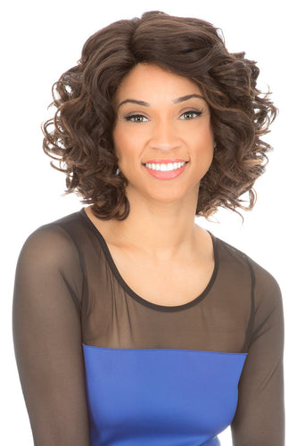 MAGIC LACE CURVED PART SYNTHETIC HAIR WIG MLC196 Synthetic Hair Lace Front Wigs
