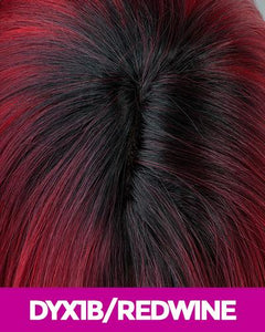 MAGIC LACE CURVED PART SYNTHETIC HAIR WIG MLC201 DYX1B/REDWINE Synthetic Hair Lace Front Wigs