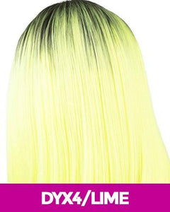MAGIC LACE CURVED PART SYNTHETIC HAIR WIG MLC203 DYX4/LIME Synthetic Hair Lace Front Wigs