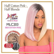 MAGIC LACE CURVED PART SYNTHETIC HAIR WIG MLC203 HH/COTTONPINK Synthetic Hair Lace Front Wigs