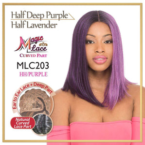 MAGIC LACE CURVED PART SYNTHETIC HAIR WIG MLC203 HH/PURPLE Synthetic Hair Lace Front Wigs