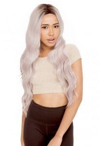 MAGIC LACE CURVED PART SYNTHETIC HAIR WIG MLC206 DYX/CRYSTAL Synthetic Hair Lace Front Wigs