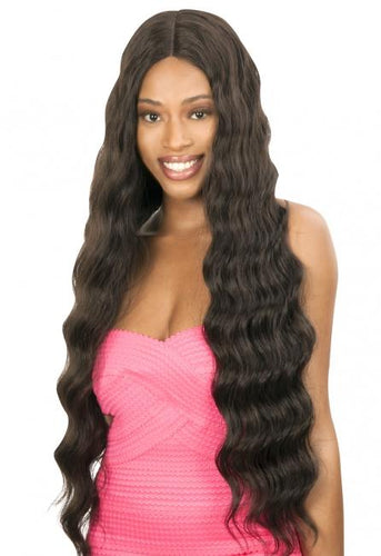 Magic Lace Human Hair Blend Wig - Deep & Free Part - Loose Deep - MLDHL Synthetic Hair Lace Front Wigs