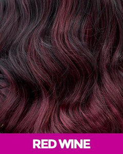 MAGIC LACE SYNTHETIC HAIR BRAID WIG MLB35 - BOUNCY TWIST BOB RED_WINE Synthetic Hair Lace Front Wigs
