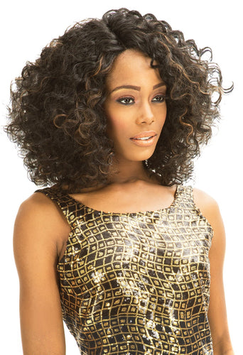 MAGIC LACE SYNTHETIC HAIR CURVED PART WIG MLC168 Synthetic Hair Lace Front Wigs
