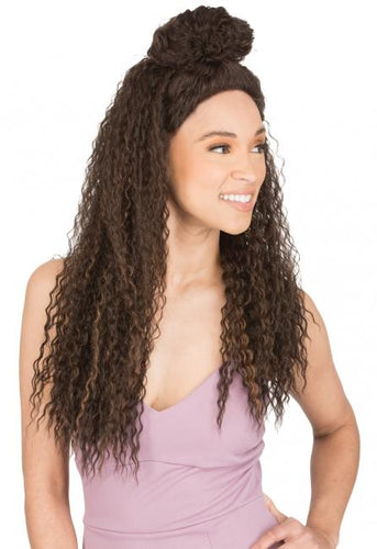 MAGIC LACE U-PART WITH HALF UPDO 62 - MLUT62 Synthetic Hair Lace Front Wigs