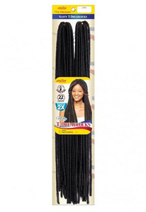 Natty T Dredlocks 22 inch Chrocht Braid Double Packs - NTD22 Crochet Braids