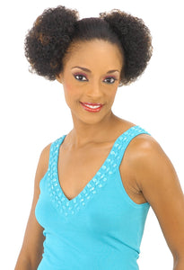 NEW BORN FREE DRAWSTRING PONYTAIL TWIN MINI AFRO 0290 Drawstring Ponytail Afro