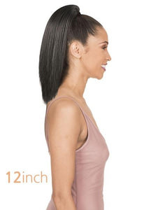New Born Free Ponytail Straight 12 - PST12 Drawstring Ponytail
