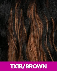 NEW BORN FREE SYNTHETIC HAIR HALF WIG 3338F SHEREE TX1B/BROWN Synthetic Hair Half Wigs