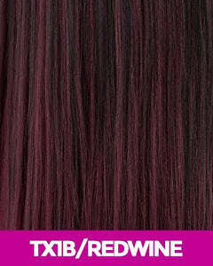 NEW BORN FREE SYNTHETIC HAIR HALF WIG 3338F SHEREE TX1B/REDWINE Synthetic Hair Half Wigs