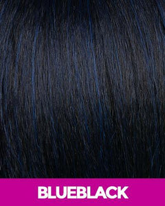 NEW BORN FREE SYNTHETIC HAIR HALF WIG VEE 4042F BLUE_BLACK Synthetic Hair Half Wigs