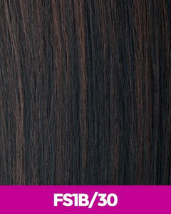 NEW BORN FREE SYNTHETIC HAIR HALF WIG ZAYDAY 6075F FS1B/30 Synthetic Hair Half Wigs