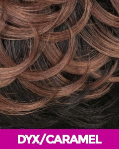 NEW BORN FREE SYNTHETIC HAIR LACE FRONT WIG 4X4 ANY PART MAGIC LACE MLA64 DYX/CARAMEL Synthetic Hair Lace Front Wigs