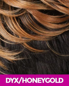 NEW BORN FREE SYNTHETIC HAIR LACE FRONT WIG 4X4 ANY PART MAGIC LACE MLA64 DYX/HONEY_GOLD Synthetic Hair Lace Front Wigs