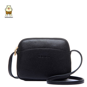 Beibaobao 2019 Hot Crossbody Bags For Women Casual Mini Candy Color Messenger Bag For Girls Flap Pu Leather Shoulder Bags