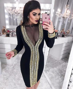 Halinfer sexy bodycon dress #F150