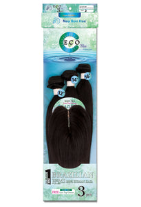 Secret Eco Blue - 3pcs 8-16 + Hand tied Top closure Straight 100% Human Hair ECO3S Top Closures