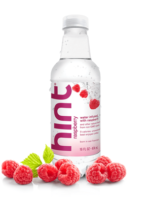 Hint Water - Raspberry - Case of 12 - 16 Fl oz.