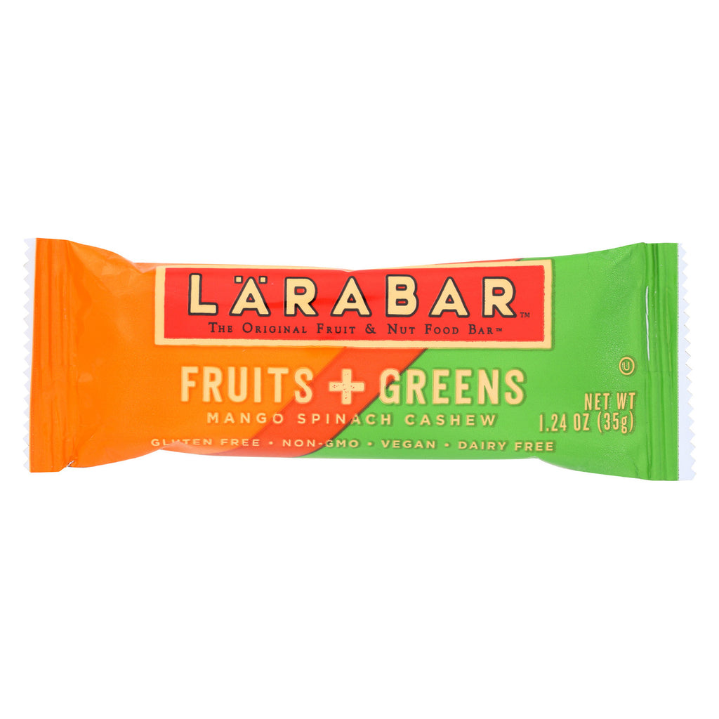 Larabar Fruit and Green Bar - Mango Spinach Cashew - Case of 15 - 1.24 oz