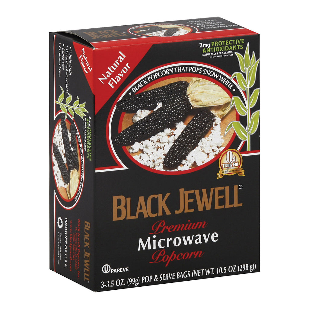 Black Jewell Microwave Popcorn - Natural - Case of 6 - 10.5 oz.