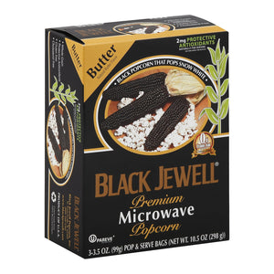 Black Jewell Microwave Popcorn - Butter - Case of 6 - 10.5 oz.