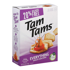 Manischewitz Everything Tam Cracker - Case of 12 - 9.6 oz.