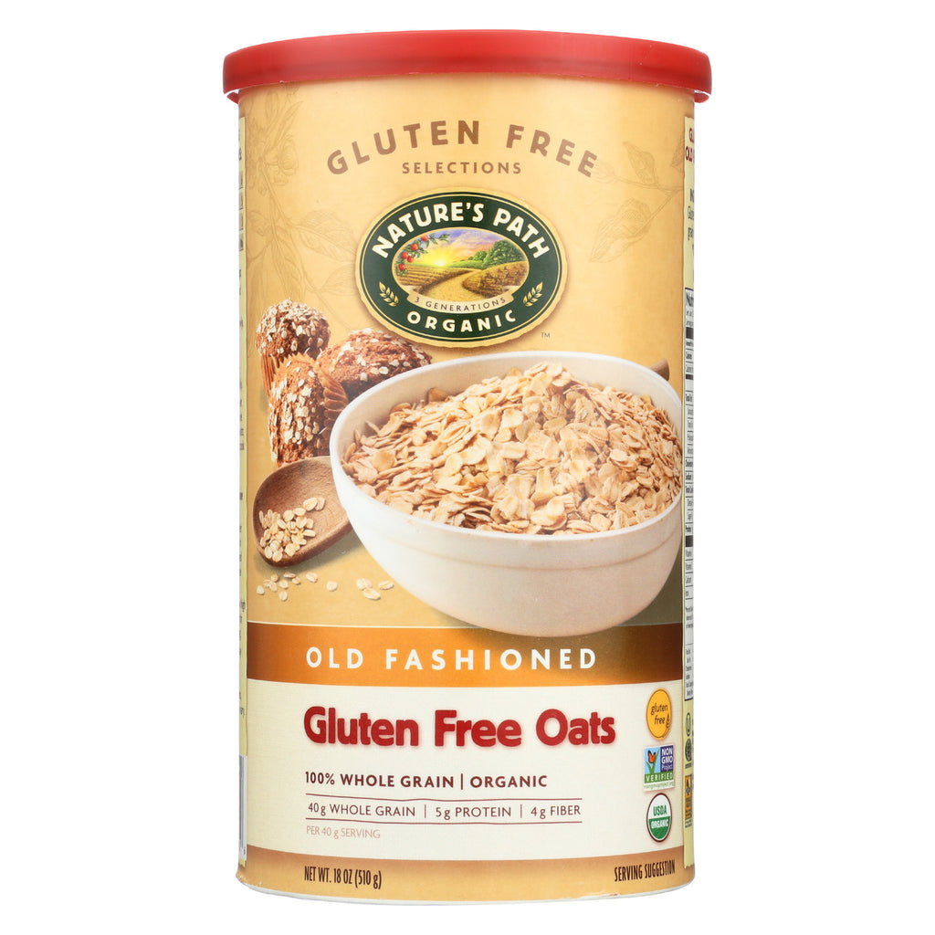 Nature's Path Organic Oats - Gluten Free Old Fashioned - Case of 6 - 18 oz.