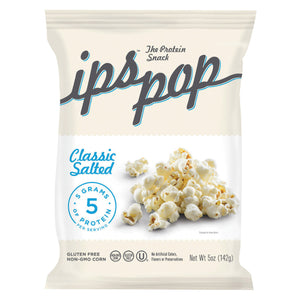 Ips Chips with Protein Popcorn - Classic Salted - Case of 6 - 5 oz