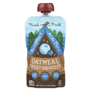 Munk Pack Blueberry Acai Flax - Blueberry - Case of 6 - 4.2 oz.