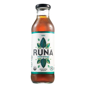 Runa Clean Energy Guayusa Tea - Mint - Case of 12 - 14 Fl oz.