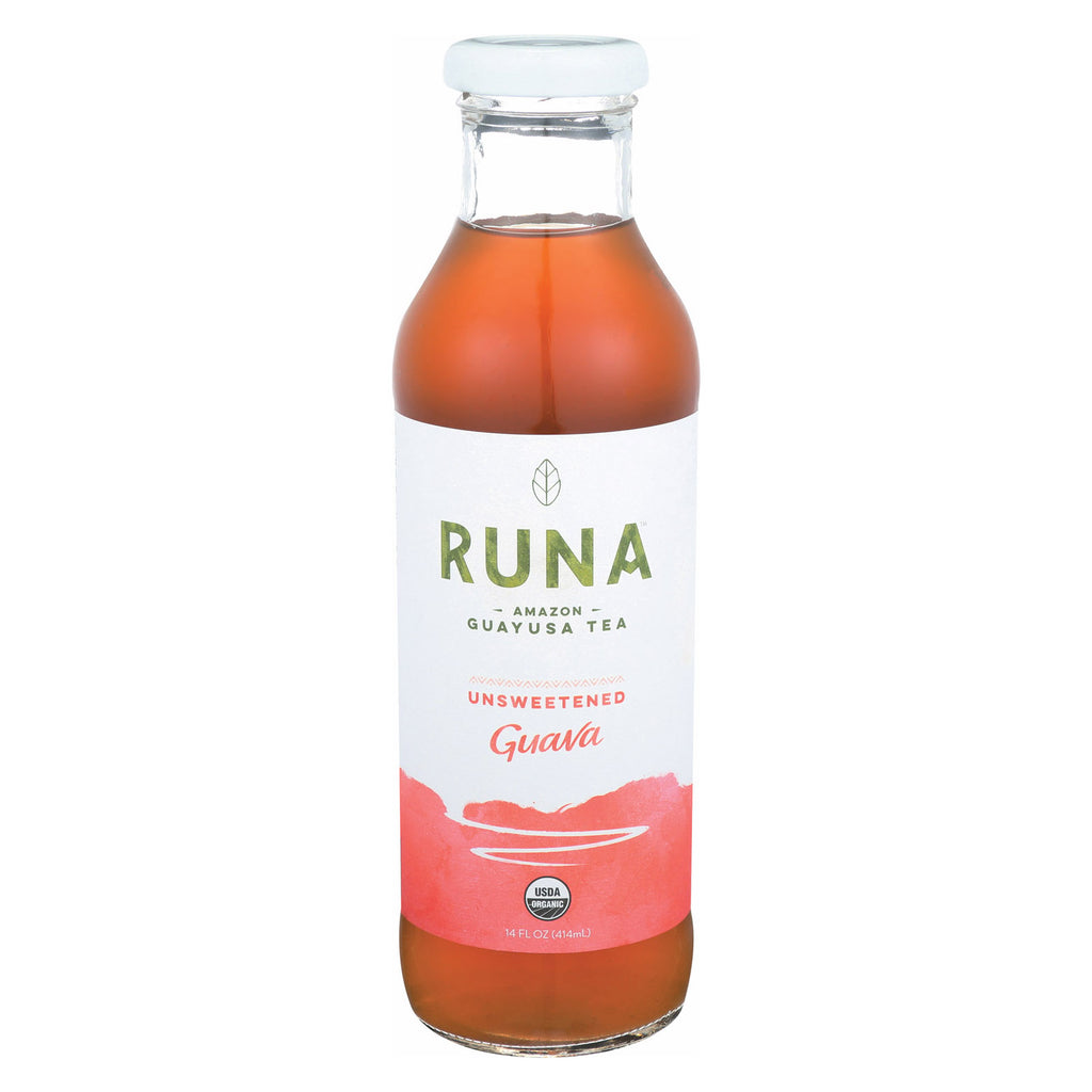 Runa Clean Energy Guayusa Tea - Guava Zero Unsweetened - Case of 12 - 14 Fl oz.