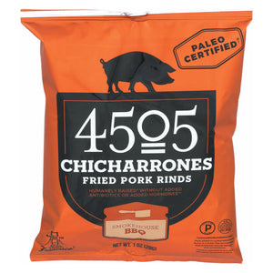 4505 Pork Rinds - Chicharones - BBQ - Case of 24 - 1 oz