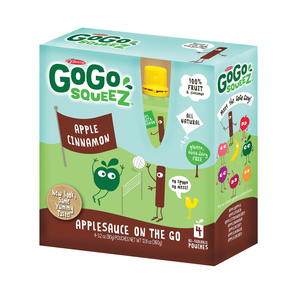 GoGo Squeeze Organic - Apple cinnamon - Case of 12 - 3.2 oz.
