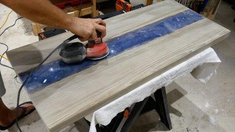 sanding resin table