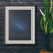 "Zodiac Star Map - Custom Constellation, Print 18"" x 24"""