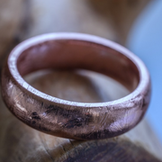 Gibeon Meteorite Ring - Rose Gold