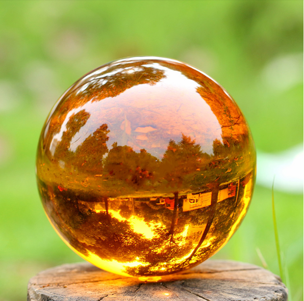 Amber - Petrified Tree Sap & Crystal Ball