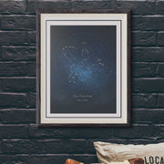 "Constellation Star Map - Custom Constellation, Print 18"" x 24"""