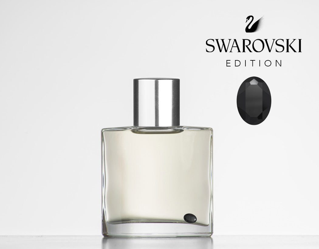 SWAROVSKI® BLACK DIAMOND 50ml Flakon mit individuellem Duft (m)