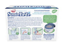SonicBrite Retainer, Denture, Mouth Guard and Night Guard Cleaner and Disinfectant - Now in Mint Flavor - 6 Month Supply